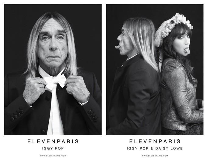 Игги Поп и Дэйзи Лоу в новой рекламной кампании Eleven Paris