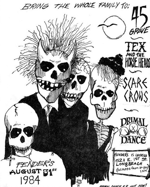45 Grave, Tex & The Horseheads, Scarecrows & Primal Dance at Fender's. 1984