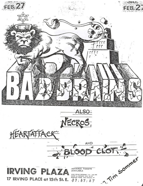 Bad Brains, Necros, Heartattack and Blood Clot @ Irving Plaza.
