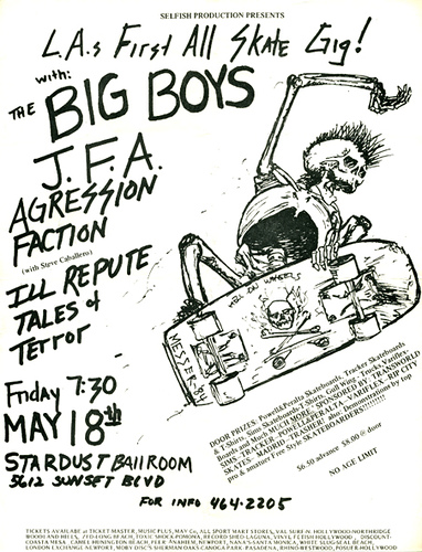 Big Boys, JFA, Agression, Faction, Ill Repute at The Stardust. Fri. May 18th