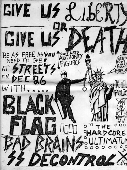 Black Flag, Bad Brains & SS Decontrol at Streets on Dec 26th