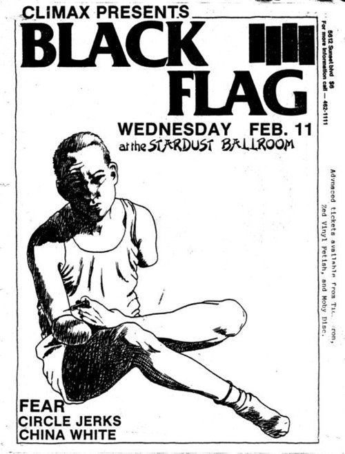 Black Flag, FEAR and Circle Jerks at The Stardust. Feb. 11th 1981
