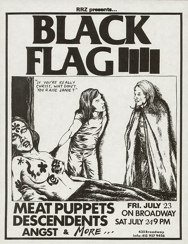 Black Flag, Meat Puppets, Descendents on Broadway. 1982
