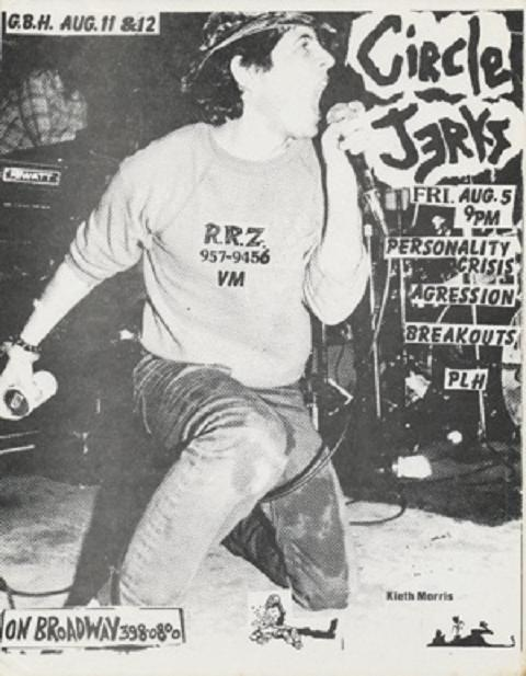 Circle Jerks, Personality Crisis, Agression on Broadway. Aug 1983