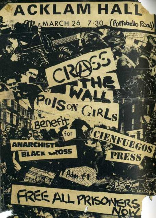 CRASS, The Wall & Poison Girls @ Acklam Hall