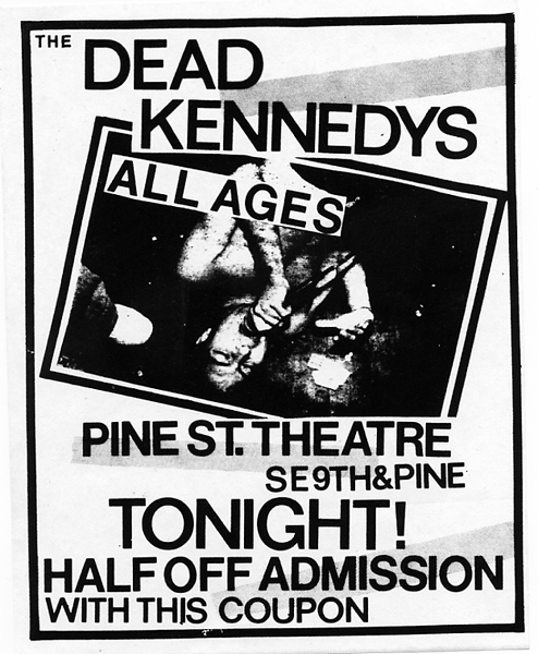 Dead Kennedys at The Pine St. Theatre. October 16th 1984