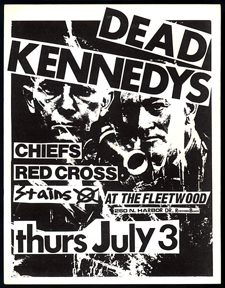 Dead Kennedys, Cheifs, Red Cross, Stains at The Fleetwood. July 3rd 1980.