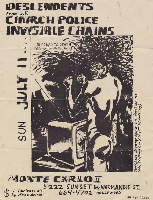 Descendents, Church Police & Invisible Chains @ Monte Carlo II. 1982