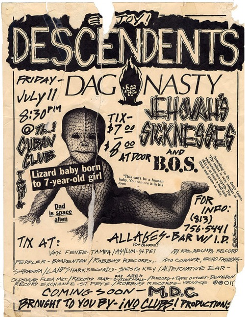 Descendents, Dag Nasty, Jehovah's Sickness & B.O.S. @ The Cuban Club.