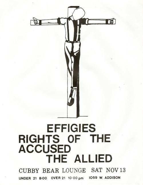 Effigies, Rights of the Accused, The Allied @ Cubby Bear Lounge. 1982