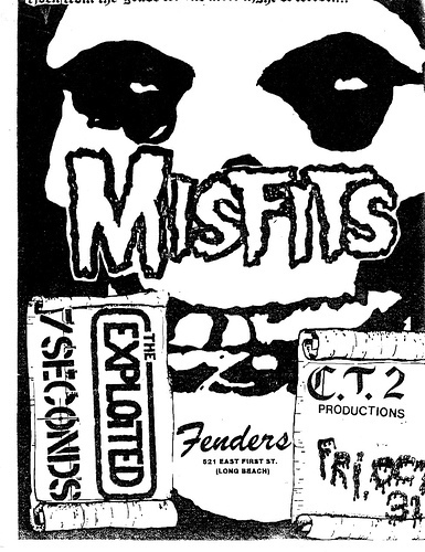 Exploited, 7 Seconds, Misfits at Fenders, Oct 31st 1981