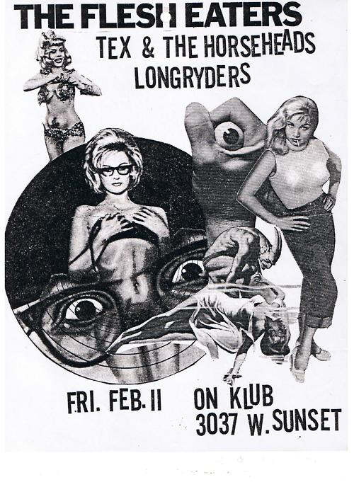 Flesh Eaters, Tex and the Horseheads & LongRyders at the ON Club Los Angeles 1983