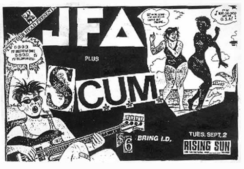 JFA and Scum at Rising Sun in Montreal, Canada. Sept. 2nd 1986