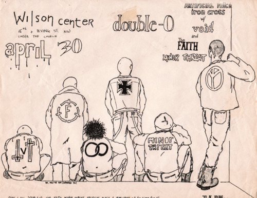 Minor Threat, Double O, Artificial Peace, Iron Cross, Void, The Faith @ Wilson Center 1981