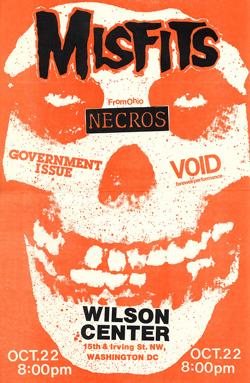 Misfits, Necros, VOID, Government Issue @ Wilson Center. 1982