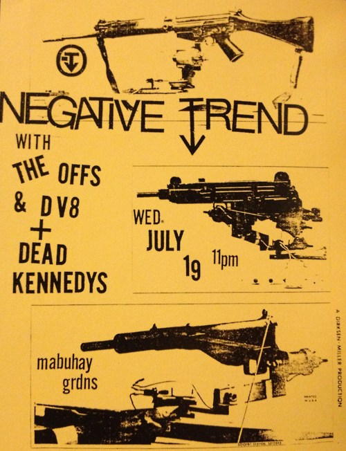 Negative Trend, The Offs, DV8 & Dead Kennedys & Mabuhay Gardens 1978