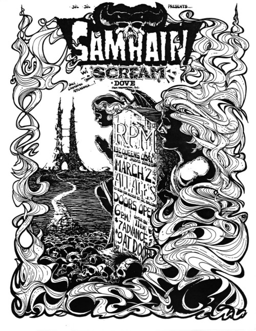 Samhain, Scream and Dove at RPM in Toronto. March 2nd 1985.
