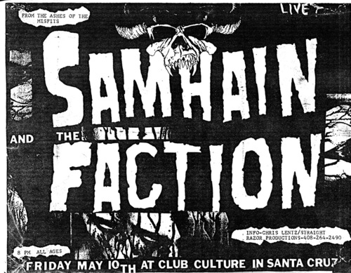 Samhian and The Faction at Club Culture May 10th 1987