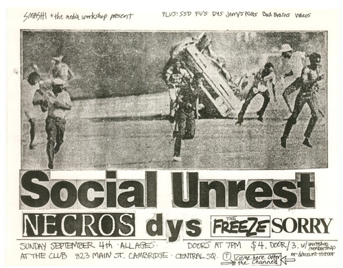 Social Unrest, Necros, DYS, The Freeze, Sorry