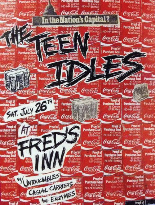 Teen Idles, Untouchables, Casual Carriers & Enzymes at Fred's Inn. 1980