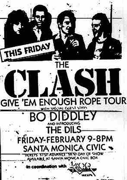 The Clash & The Dils @ Santa Monica Civic. 1979