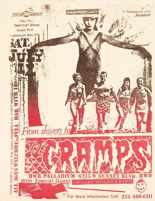 The Cramps & Social Distortion at The Palladium. Sat July 12th