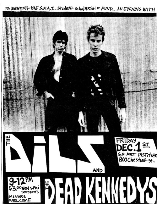 The Dils and The Dead Kennedys at The San Francisco Art Institute. Dec 1978