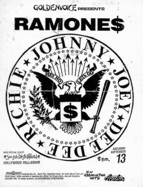 The Ramones & Social Distortion @ The Palladium. 1986