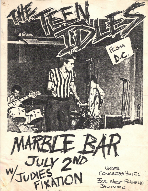 The Teen Idles & Judies Fixation at The Marble Bar. 1980