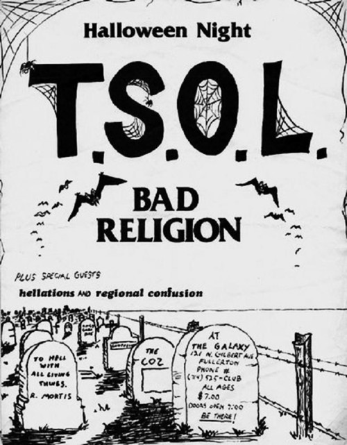 TSOL, Bad Religion at The Galaxy Oct 31 1982