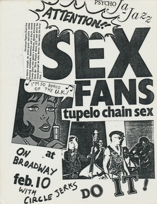 Tupelo Chain Sex With Circle Jerks at On Broadway Feb. 10