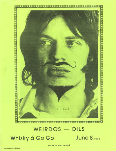 Weirdos and The Dils at The Whisky June 8th 1978